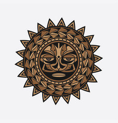 Polynesian tattoo design face vector