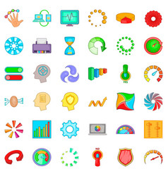 Process icons set cartoon style vector