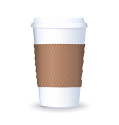 realistic to go and takeaway paper coffee cup vector image