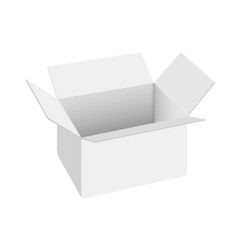 realistic white open carton blank box vector image
