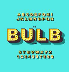 retro light bulb bright alphabet modern vector image
