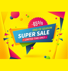 sale banner special offer logo weekend promotion vector image