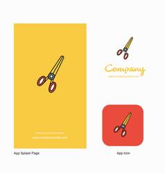 scissor company logo app icon and splash page vector image