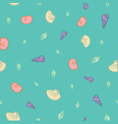 sea shells seamless pattern design vector image
