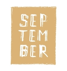 September card hand drawn modern grunge vector