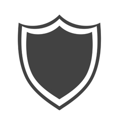 shield protection insignia security symbol vector image
