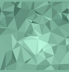 Shiny polygonal background in minty jade tones vector
