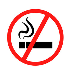 signs prohibiting smoking vector image