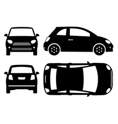 Small car black icons vector
