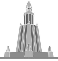 Stencil of alexandria lighthouse first variant vector