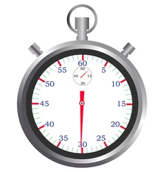 stopwatch sports vector image