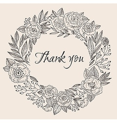 Thank you card3 vector image