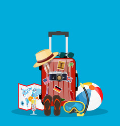 Travel bag luggage vector
