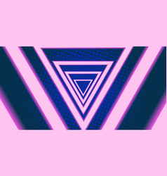 triangle eighties background 80s 1980 vector image