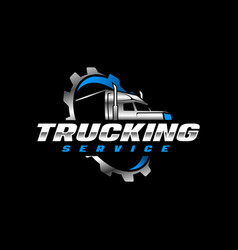 trucking log template vector image