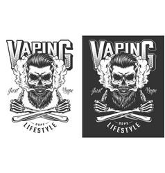 Vaping apparel design vector