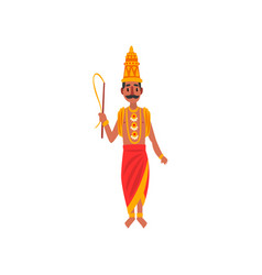 varuna indian god waters world vector image