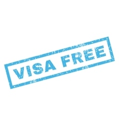 Visa Free Rubber Stamp vector