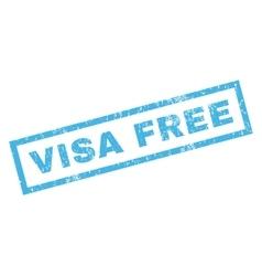 Visa free rubber stamp vector