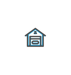 warehouse icon line design e commerce icon vector image