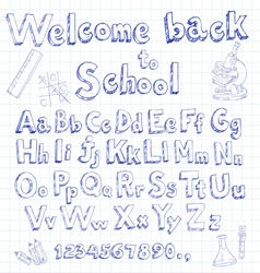 Welcome back to school font on lined sheet vector