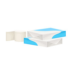 White paper ream and roll paper as manufactured vector