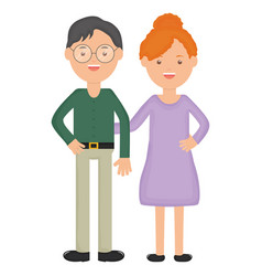 young teachers couple education characters vector image