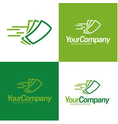 Fast cash logo icon and logo vector