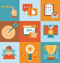 flat customer service concepts vector image