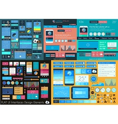 Flat UI Mega Collection Icons web and technology vector image
