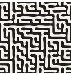 Seamless irregular hand drawn maze lines vector