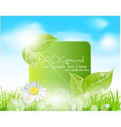 spring leaves banner vector image vector image