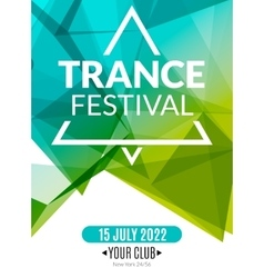 Club electronic trance festival music poster vector image
