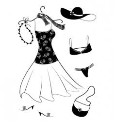 dresses women vector image vector image