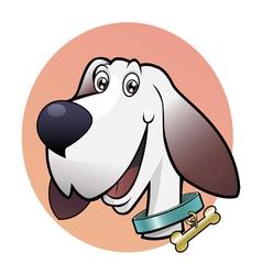 happy cute dog vector image vector image