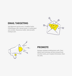 promote and email targeting marketing business vector image