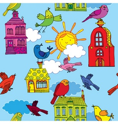 town building pattern vector image