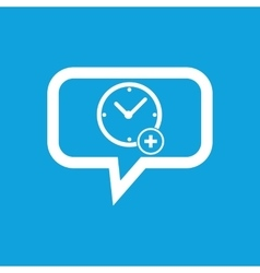 Add time message icon vector
