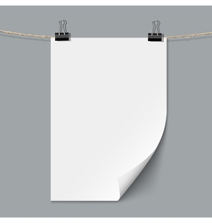 Blank paper sheet vector image vector image