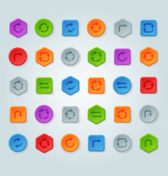 colorful website turn reload buttons design vector image vector image