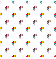 colourful star shaped balloons pattern vector image vector image