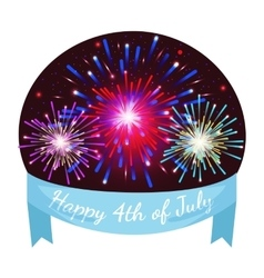 Happy 4th of July Independence Day Design vector image