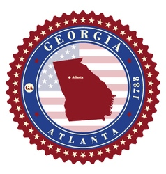 Label sticker cards of State Georgia USA vector image vector image