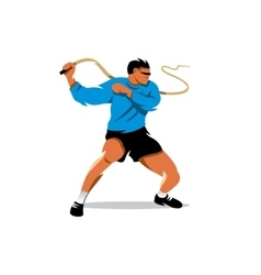 Man with whip Cartoon vector image vector image
