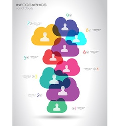 Social Media and Cloud concept Infographic vector image
