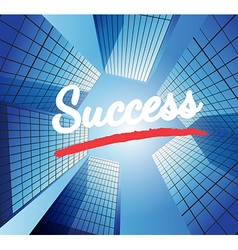Success concept with abstract background vector