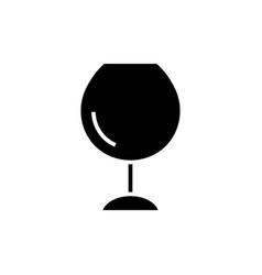 wine glasses - icon blac vector image vector image