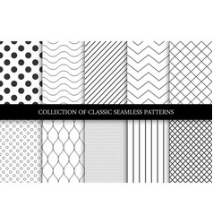 collection of seamless geometric minimalistic vector image