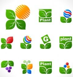design elements leafs vector image