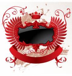 red black banner vector image